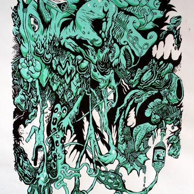Affiche Cadavres Exquis 4 Johanny Melloul Rafael Houee