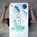 Calendrier 2019 Les éléments chimériques Août